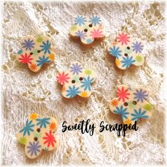 10x Embossed DAISY Craft Embellishment Scrapbooking Cardmaking Easter Decoration
