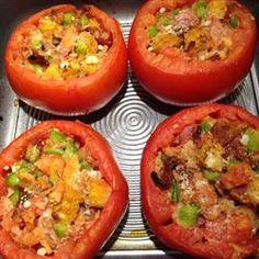 Baked Stuffed Tomatoes Allrecipes.com