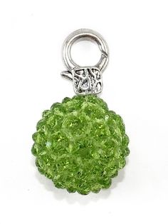 Damen Charm Anhänger Glasperle, grün von Fashion Jewelry bei www.meinkleidchen.de