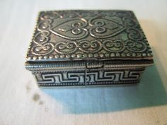 S 21g Vintage Handcraft Miniature 925 Sterling GREEK SILVER BOX in Grave by spyrinex06 on Etsy