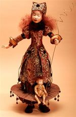 "ART DOLL  ""Go, Where my Guardian Angel Goes"" Daanen, One of a Kind Doll"
