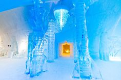 Located just outside of Quebec City, the fabled Hotel de Glace (Ice Hotel) has piqued curiosity and delighted visitors for over a decade. Every year, the hotel is redesigned and reconstructed each December for the new winter season and then closes and is taken down in April. It is built with metal frames and its own special mixture of snow.