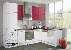 Cocina Premiun Blanco y Rojo Alto brillo