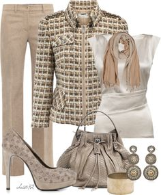 """""""Tweed and Scarf"""" by christa72 on Polyvore"""