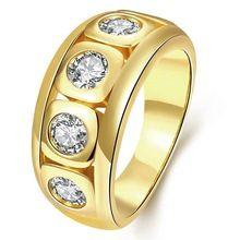 Frete grátis Os anéis de casamento novos quentes da chapeamento de ouro da jóia da forma enrolam o anel de cristal incrustado de ouro do plastron do colar do ouro (China (continente))