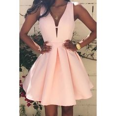Fabulous Pink Homecoming Dresses,Satin Short Prom Dresses,Graduation... ($135) ❤ liked on Polyvore featuring dresses, pink dress, pink satin dress, pink homecoming dresses, short cocktail dresses and prom dresses
