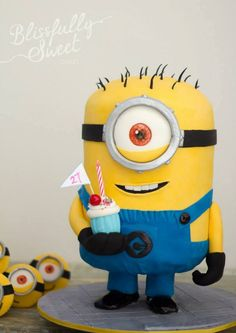 Minion 3-D stand-up cake