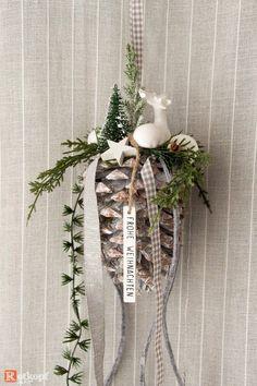 adventskranz rosa grau mit hirsch weihnachtsdekoration pinterest crafts und diy. Black Bedroom Furniture Sets. Home Design Ideas
