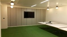 #arttragrass installs for meeting room of a top London firm. Visit www.artificialgrasstrader.co.uk today!