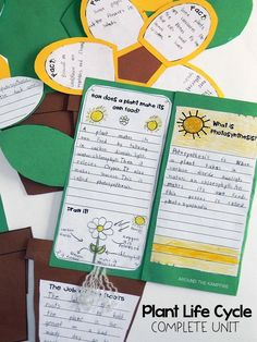 Plant life cycle activities-A complete science unit for teaching about plants for 1st, 2nd, and 3rd grade students. Such a fun way to get kids writing about science!