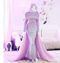 baju nikah purple