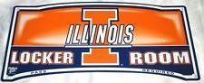 Illinois Fighting Illini Locker Room Sign
