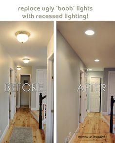 Recessed Lighting- totally want to do this to get rid of the ugly dome lights alllllll over our house.