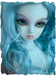 "OOAK New NARAH 16"" Slim mini MSD dollfie bjd Blue Fairy elf ears ..."