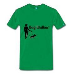 Dog Walker Men's Premium T-Shirt by PersonalizedSouvenirs.com