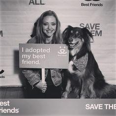 Amanda Seyfried and her doggie