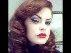 Vintage hair tutorial for a Dita Von Teese look