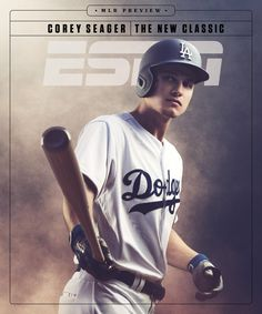 The new classic Corey Seager Sports Magazine Covers, The New Classic, Dodgers Fan, Dodgers Baseball, Baseball Guys, Thing 1, Sports Graphics, Branding, Los Angeles Dodgers