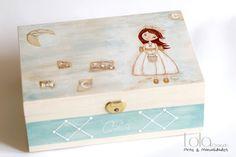 #Joyero de #madera muñeca con bolso. www.lolagranado.com