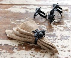 These sturdy cast iron napkin rings have a cute bumble bee on top! These are…