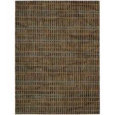 Calvin Klein Home Loom Select Brown Rug (5'6 x 7'5)