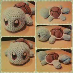 Sweet crochet Squirtle/Schiggy  #Pokemon #Squirtle #Schiggy #crochet  #Amigurumi…