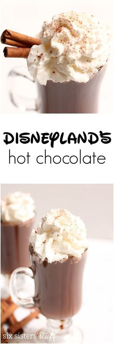 Disneyland's Hot Chocolate Recipe | Even though it doesn't get too cold at the Disneyland Parks in the winter, it's cold enough that you'll want a jacket…and some of their AMAZING Hot Chocolate from the Napa Rose Restaurant in the Grand Californian hotel.