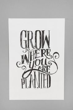 Matthew Taylor Wilson Grow Where You Are Planted Art Print