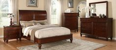 Yorkshire Cherry 5 Piece Solid Wood King Bed Set