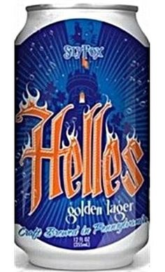 Cerveja Helles Golden Lager, estilo Munich Dunkel, produzida por Sly Fox Brewing, Estados Unidos. 4.9% ABV de álcool.