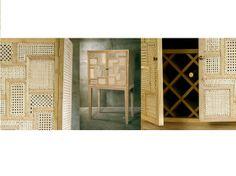 mueble bar lacado y tallado manual tallado