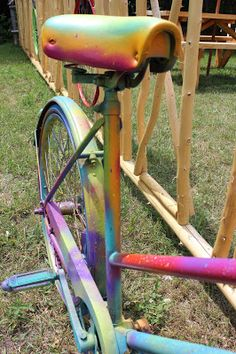 Art at The Park Continued--- The Spray Painted Psychadelic Bike
