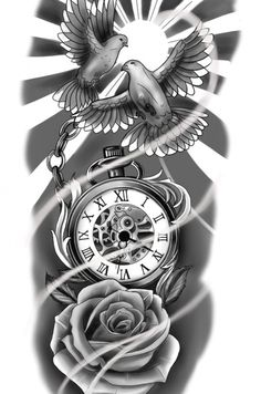 Sleeve Tattoos For Women, Tattoos For Guys, Cool Tattoos, Forearm Tattoos, Arm Band Tattoo, Owl Skull Tattoos, Clock And Rose Tattoo, Graffiti Characters, Butterfly Sketch