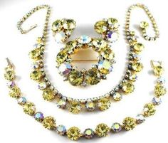Weiss Jonquil Parure Gorgeous Crystal Rhinestone by hipcricket, $180.00