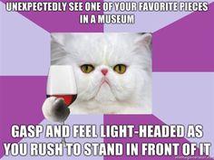 art history major cat (I LOVE THESE)