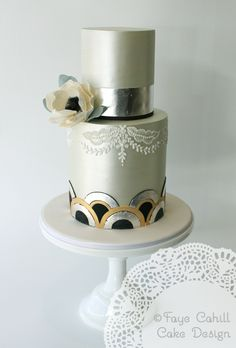 Sample cake for new workshop by Faye Cahill Cake Design