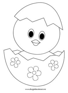 Easter Drawings, Art Drawings For Kids, Drawing For Kids, Cute Drawings, Easter Coloring Pages, Colouring Pages, Coloring Books, Easter Crafts For Kids, Diy For Kids