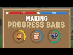 In this video we take a look at how to create a linear progress bar and a radial progress bar, as well as how to control them both from the same script and a. Unity Games, Unity 3d, Unity Tutorials, Progress Bar, Game Engine, Indie Games, Youre Invited, Creativity, Coding