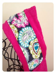 Pink Paisley Hooded Towel by gloriousgoose on Etsy, $18.50