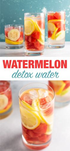Easy Watermelon Detox Water Recipe – Build Your Bite - infused water Watermelon Infused Water, Cucumber Detox Water, Watermelon And Lemon, Healthy Water, Healthy Detox, Easy Detox, Healthy Drinks, Healthy Life, Healthy Recipes