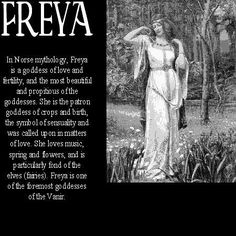 The goddess Freya #norsemythology