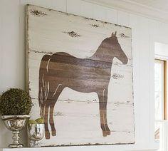 Pallet artwork...I love this horse