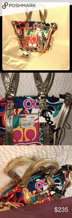 Authentic Brand NEW Coach Poppy with duffle bag! In PERFECT! Brand new, pristine condition! This Poppy Line from Coach was outstanding with all the colors and patterns that came out, unfortunately all of them are limited editions and are not being made any longer, especially of the prints I have posted for my all my Posher Sister's❤️💕please let me know if you have any questions and never hesitate to shoot me a fair decent offer. Remember that Posh takes a cut as well as shipping and…