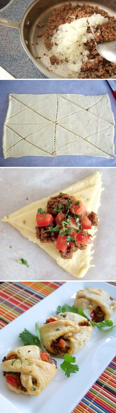 Mini Taco Pockets.  These are super quick and easy but look like you spent hours in the kitchen!
