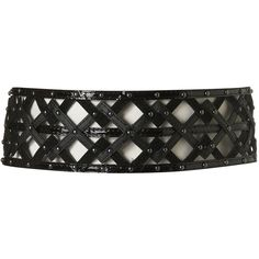 Wide Geo Suedette Belt ($40) ❤ liked on Polyvore