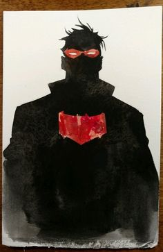 Dustin Nguyen (Batman) Original Red Hood art +free 2016 80pg artbook NO RESERVE Comic Art Auction