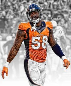 0f561972249f9d Von Miller - OLB - Defensive Player Of The Week 2016 Denver Broncos  Defense