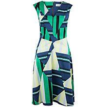 ClosetV-Neck Skater Dress, Multi