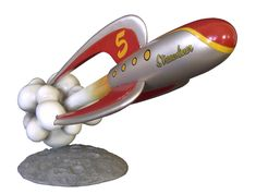 """""""Streamliner"""" Retro Toy Rocket by Cool Rockets 