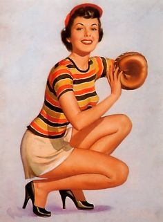 The Perfect Catch - Pearl Frush pin-up girl picture